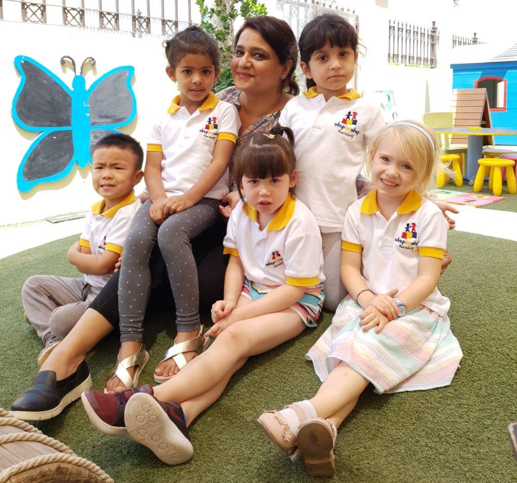 Dilshad - nursery school teacher with kids Dubai